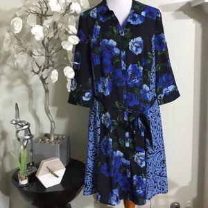 ISAAC MIZRAHI FLORAL DRESS